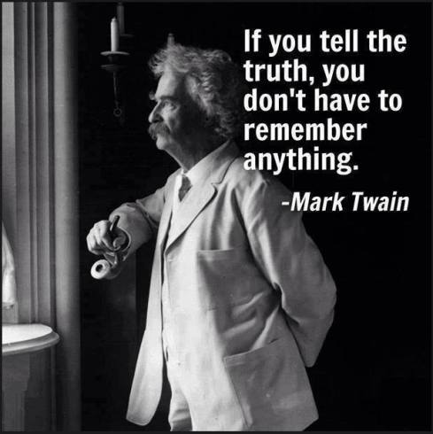 Mark Twain and truth