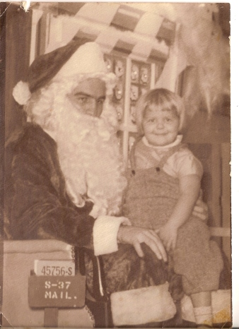 Janet on Santa's lap